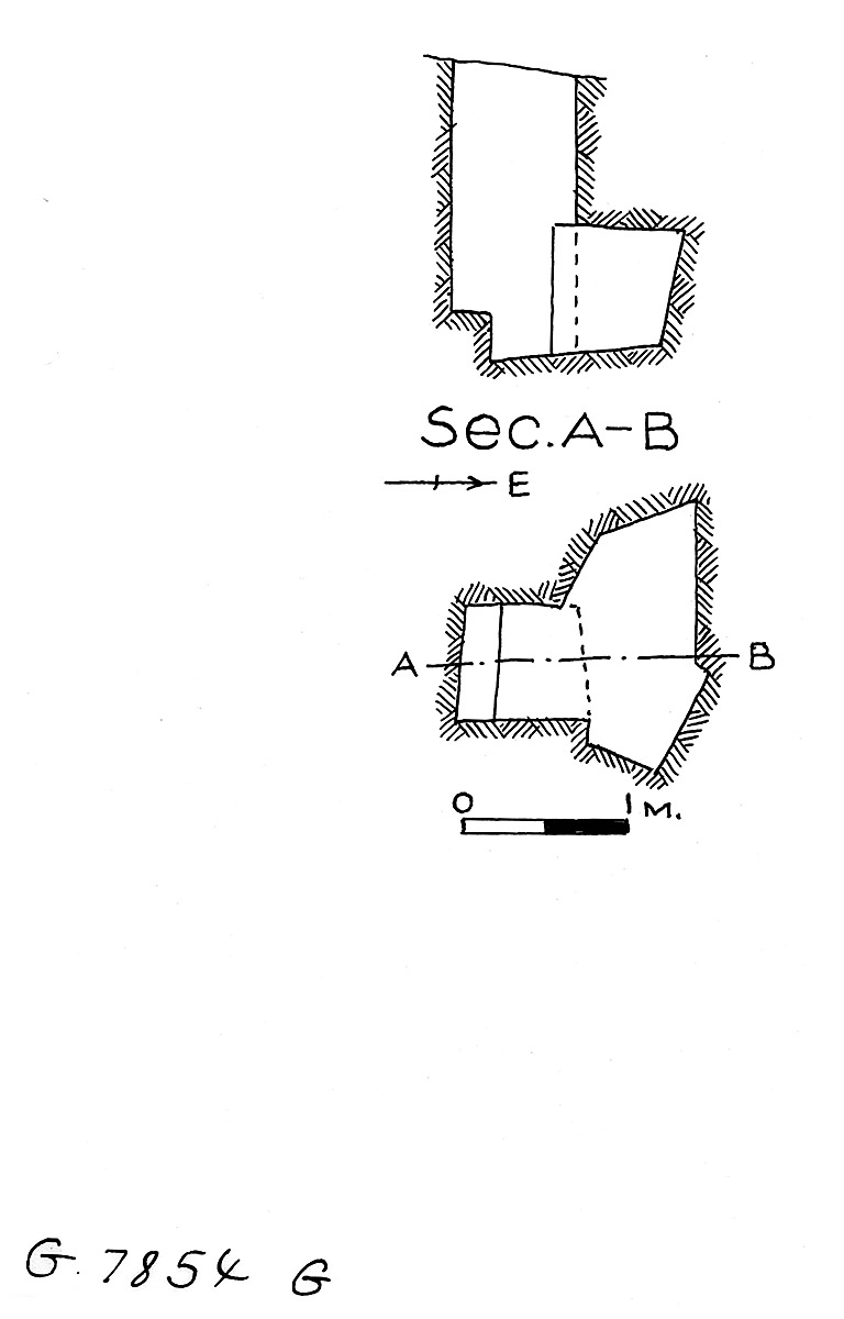 Maps and plans: G 7854, Shaft G