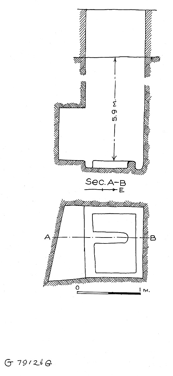 Maps and plans: G 7912, Shaft G