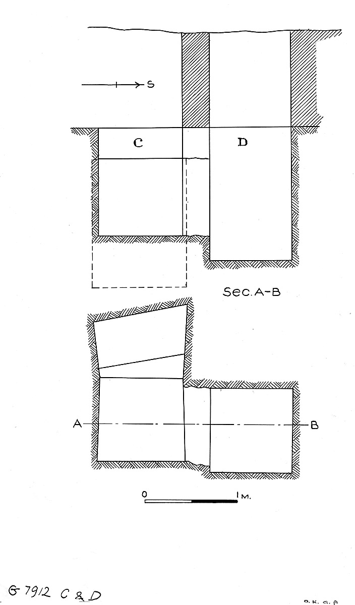 Maps and plans: G 7912, Shaft C and D