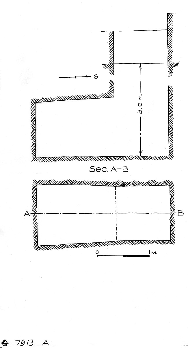 Maps and plans: G 7913, Shaft A
