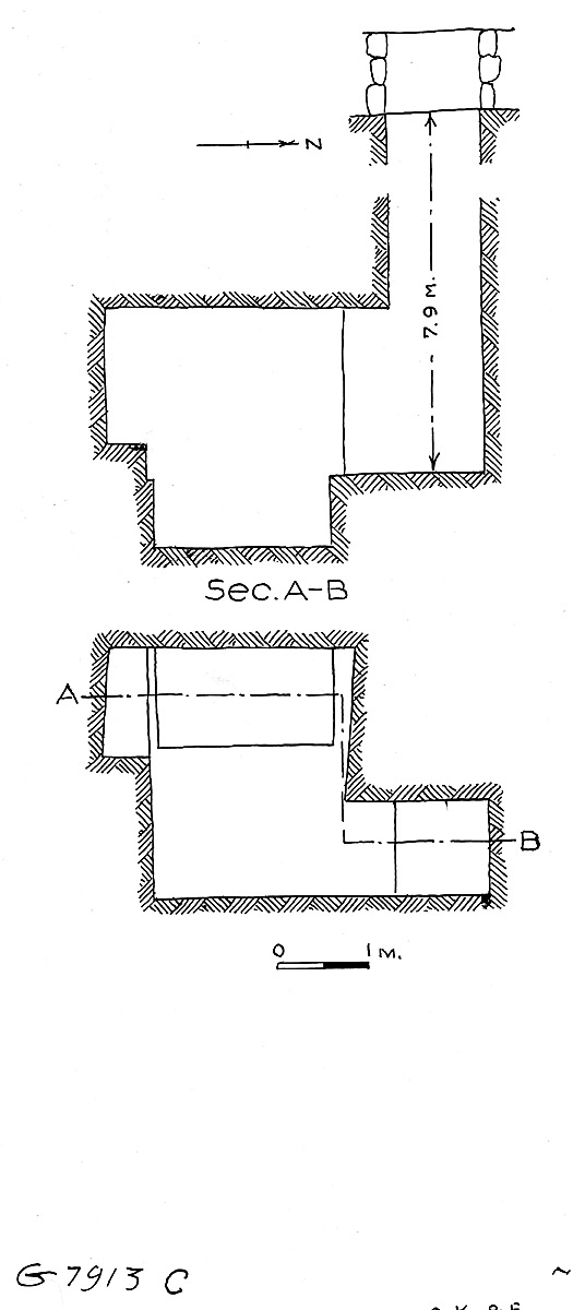 Maps and plans: G 7913, Shaft C