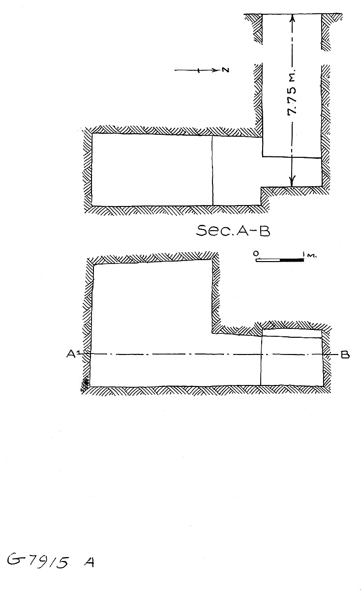 Maps and plans: G 7915, Shaft A