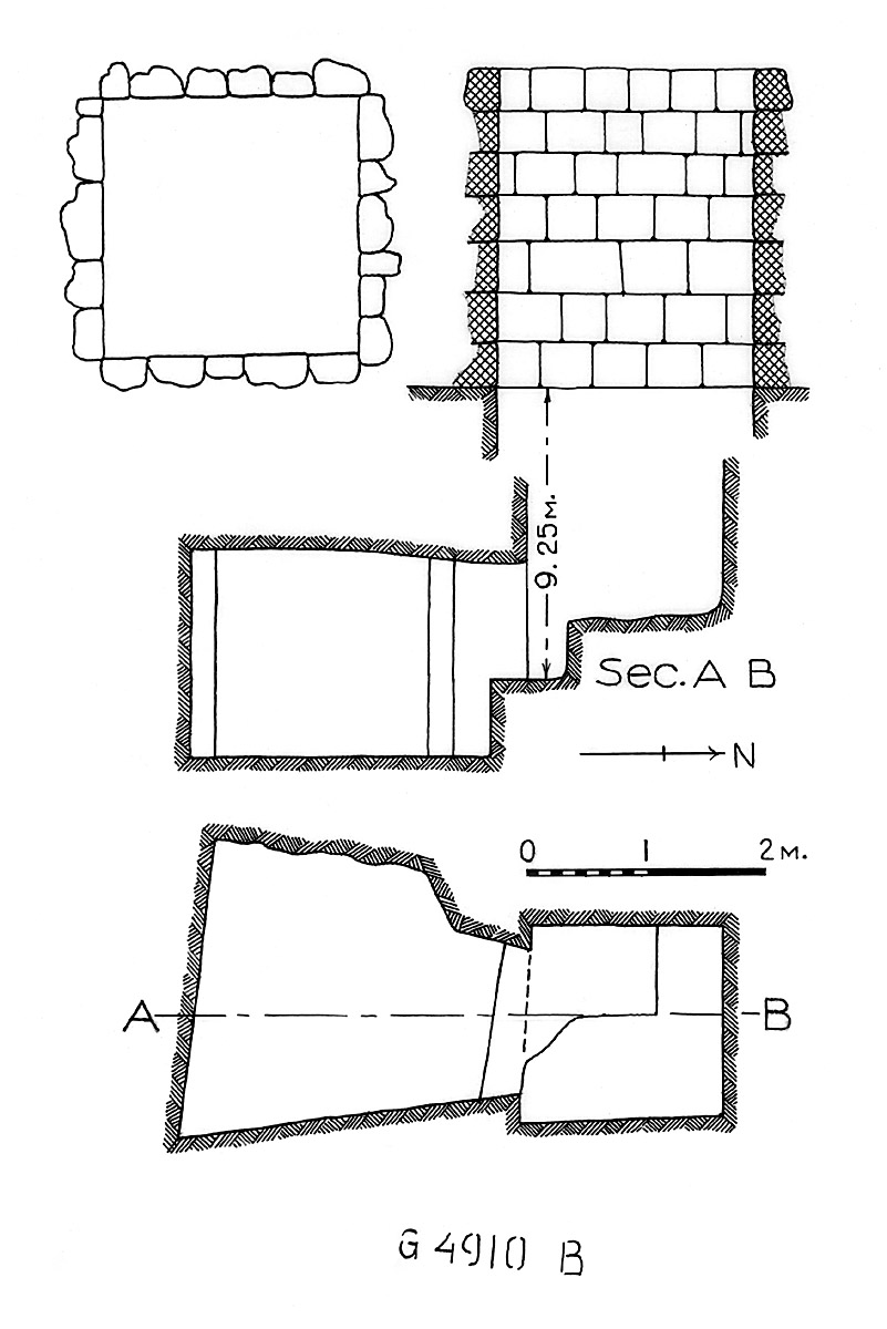 Maps and plans: G 4910, Shaft B