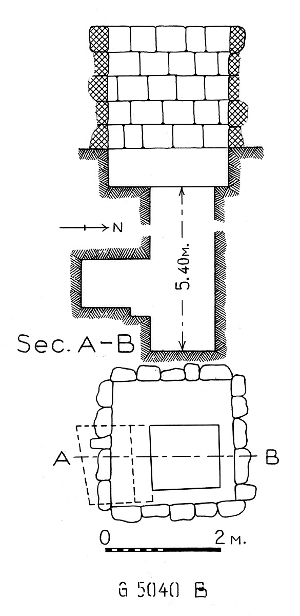 Maps and plans: G 5040, Shaft B