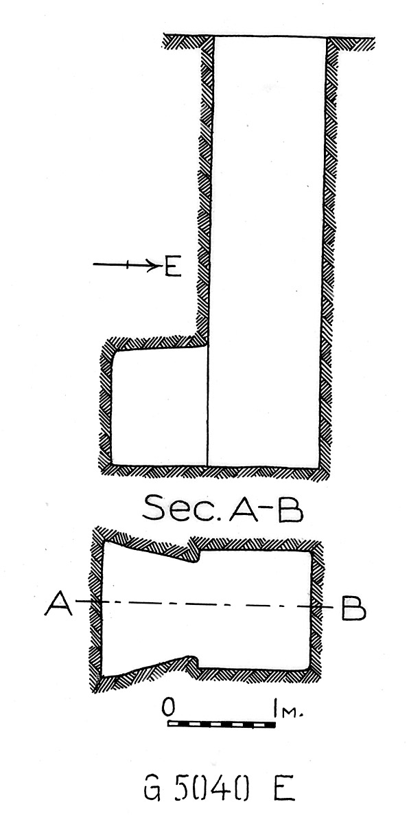 Maps and plans: G 5040, Shaft E