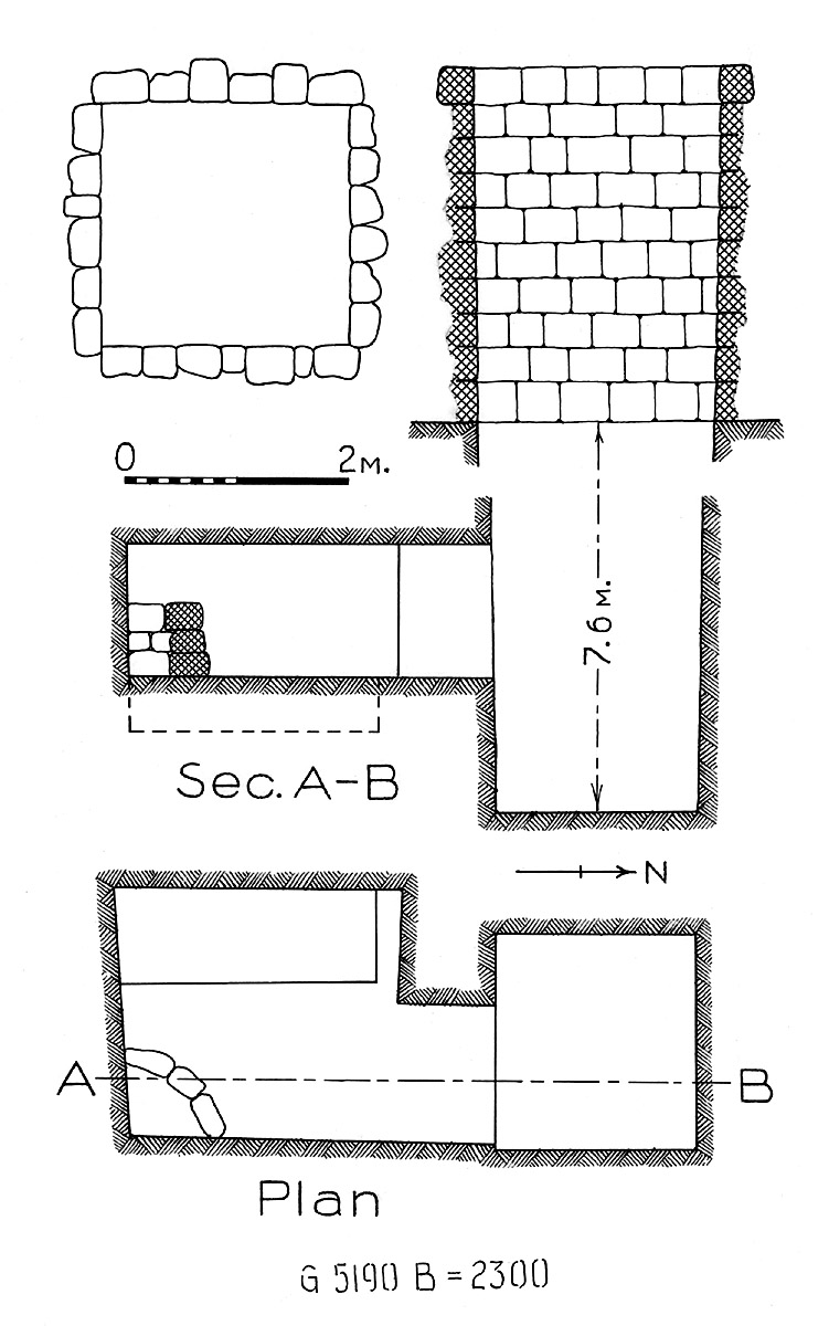 Maps and plans: G 2300 = G 5190, Shaft B
