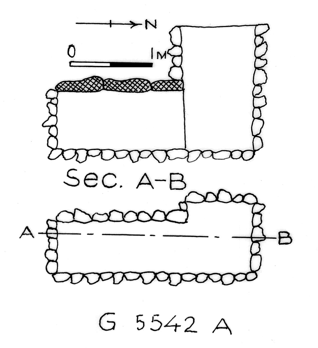 Maps and plans: G 2358 E = G 5542, Shaft A