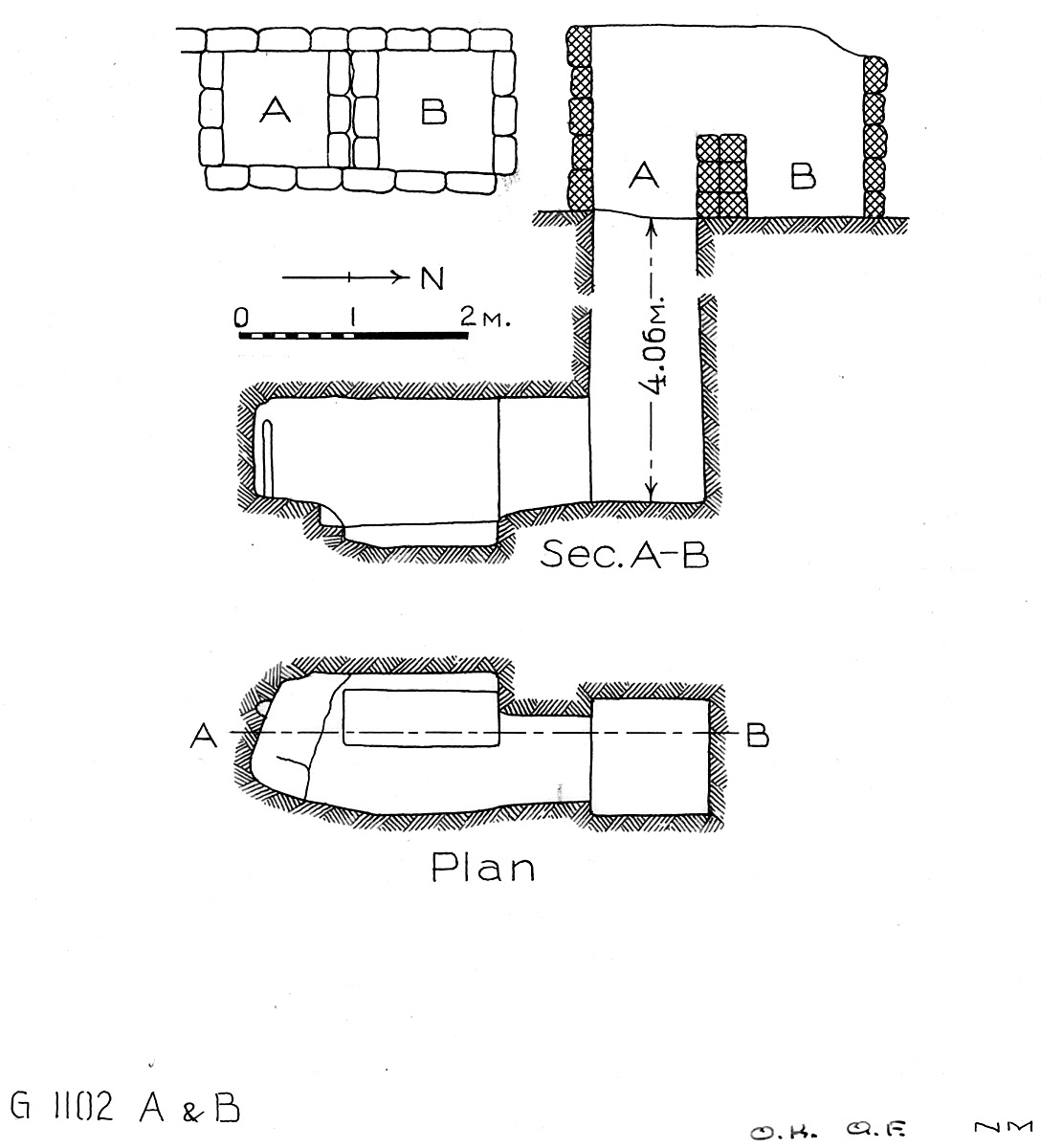 Maps and plans: G 1102, Shaft A and B