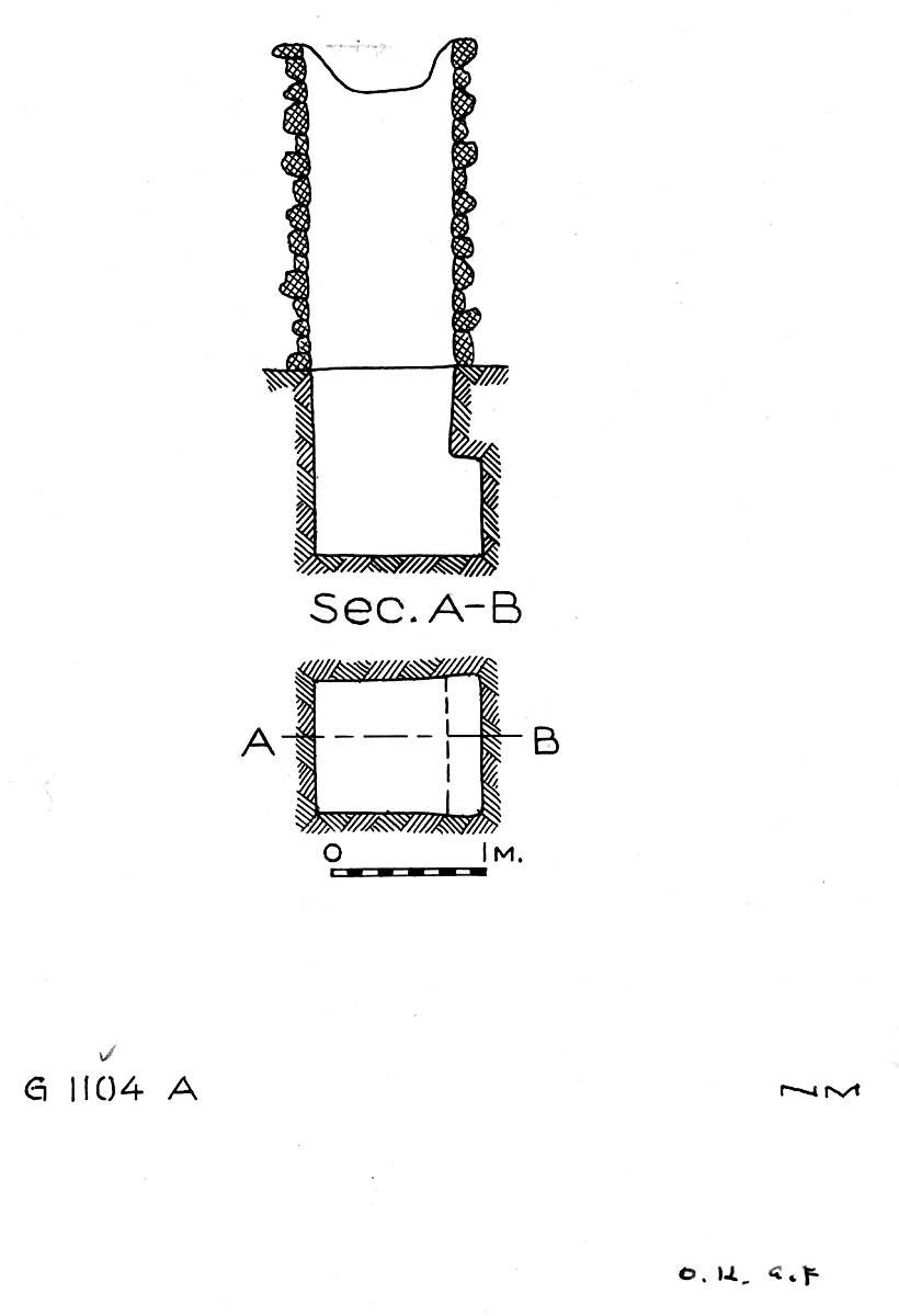 Maps and plans: G 1104+1105: G 1104, Shaft A