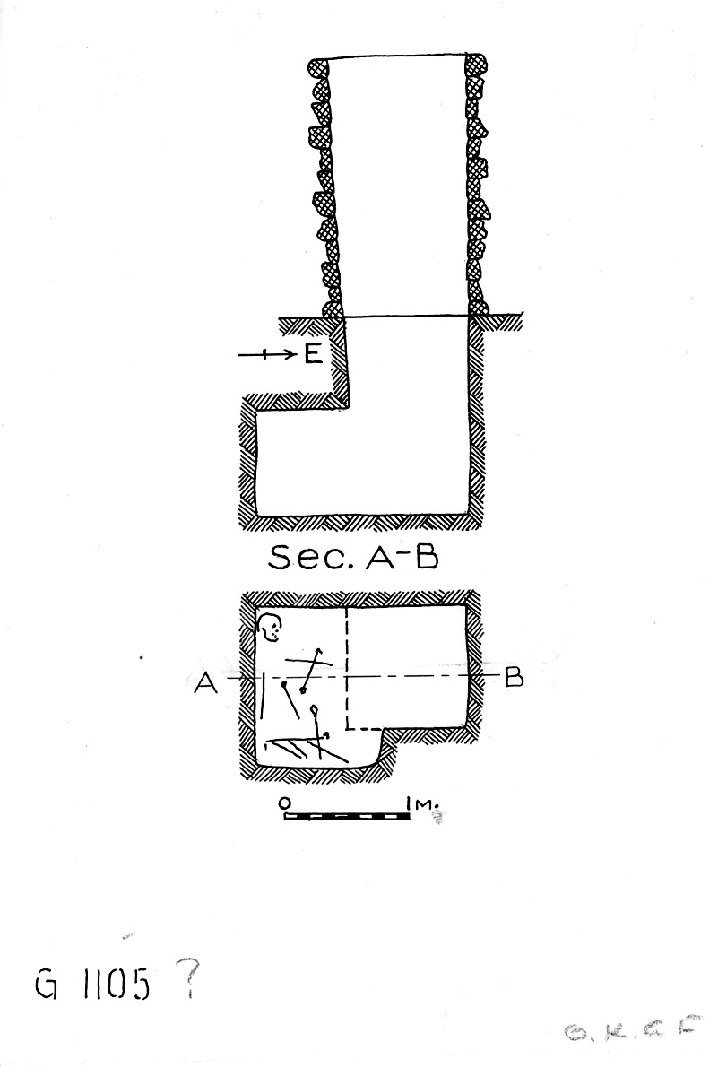 Maps and plans: G 1104+1105: G 1105, Shaft B