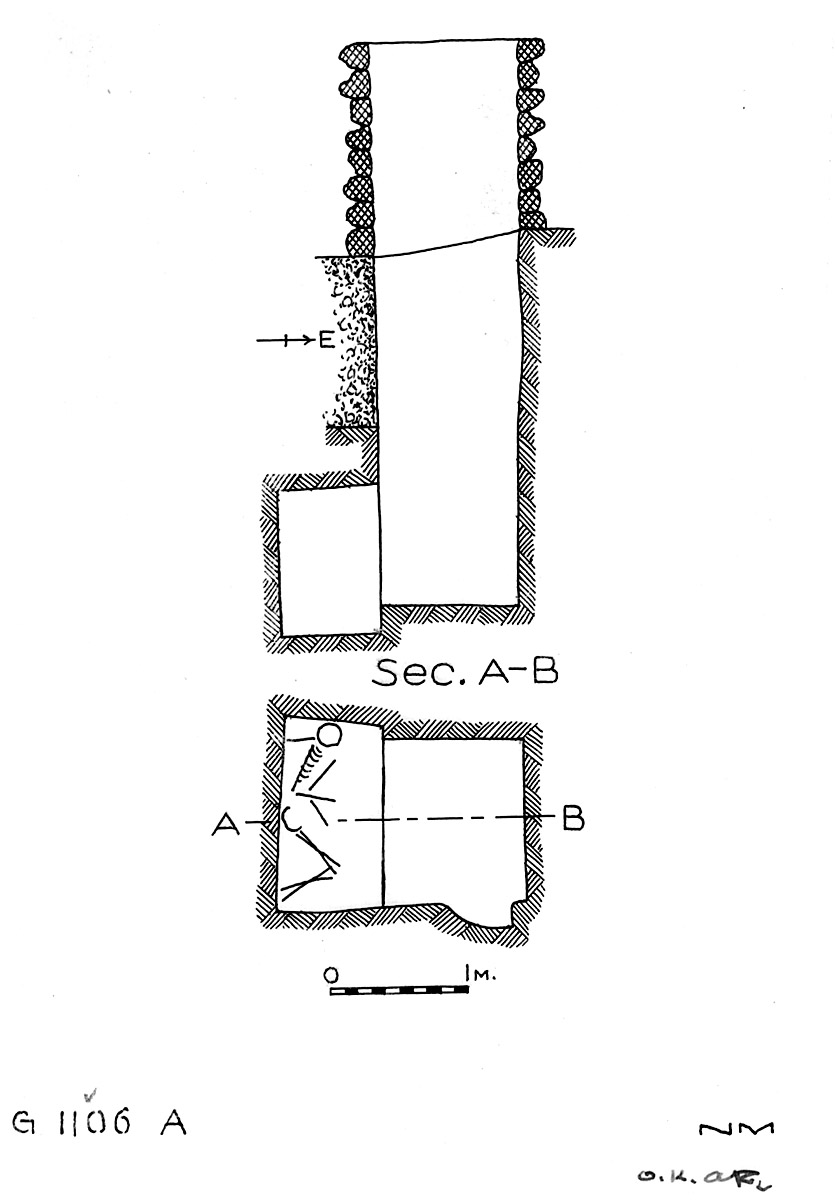 Maps and plans: G 1106, Shaft A