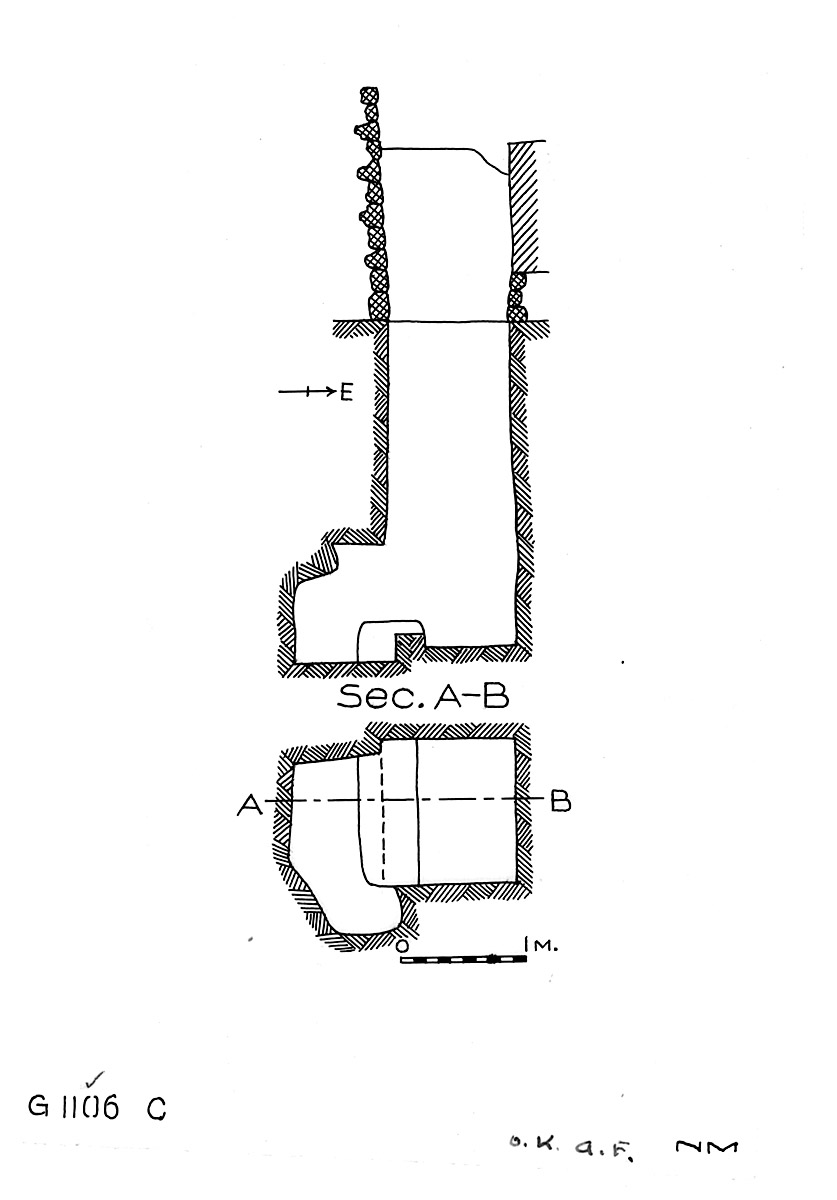 Maps and plans: G 1106, Shaft C