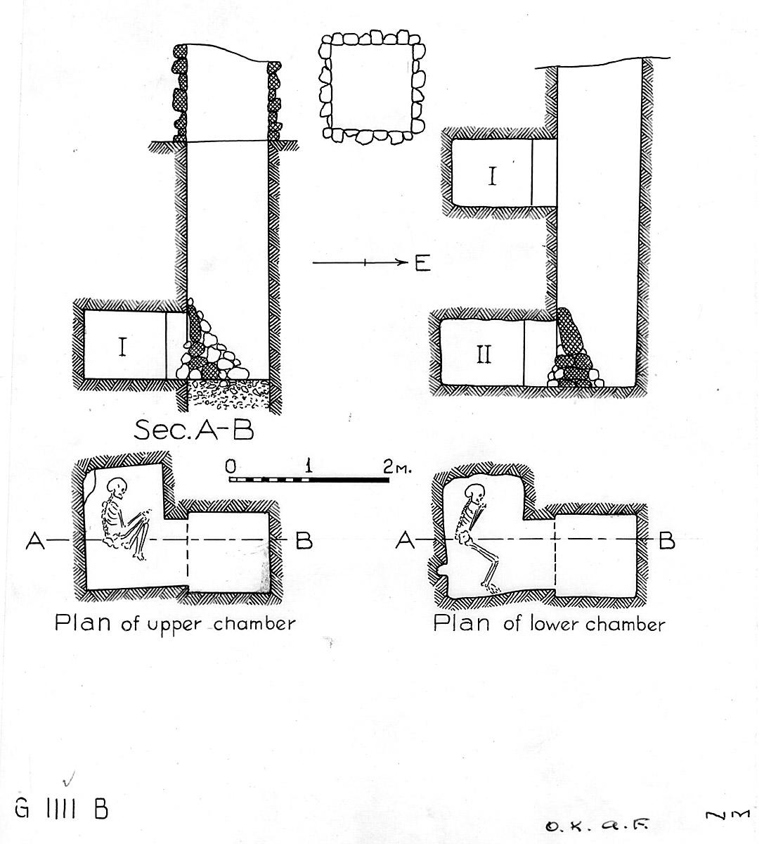Maps and plans: G 1111, Shaft B (I & II)