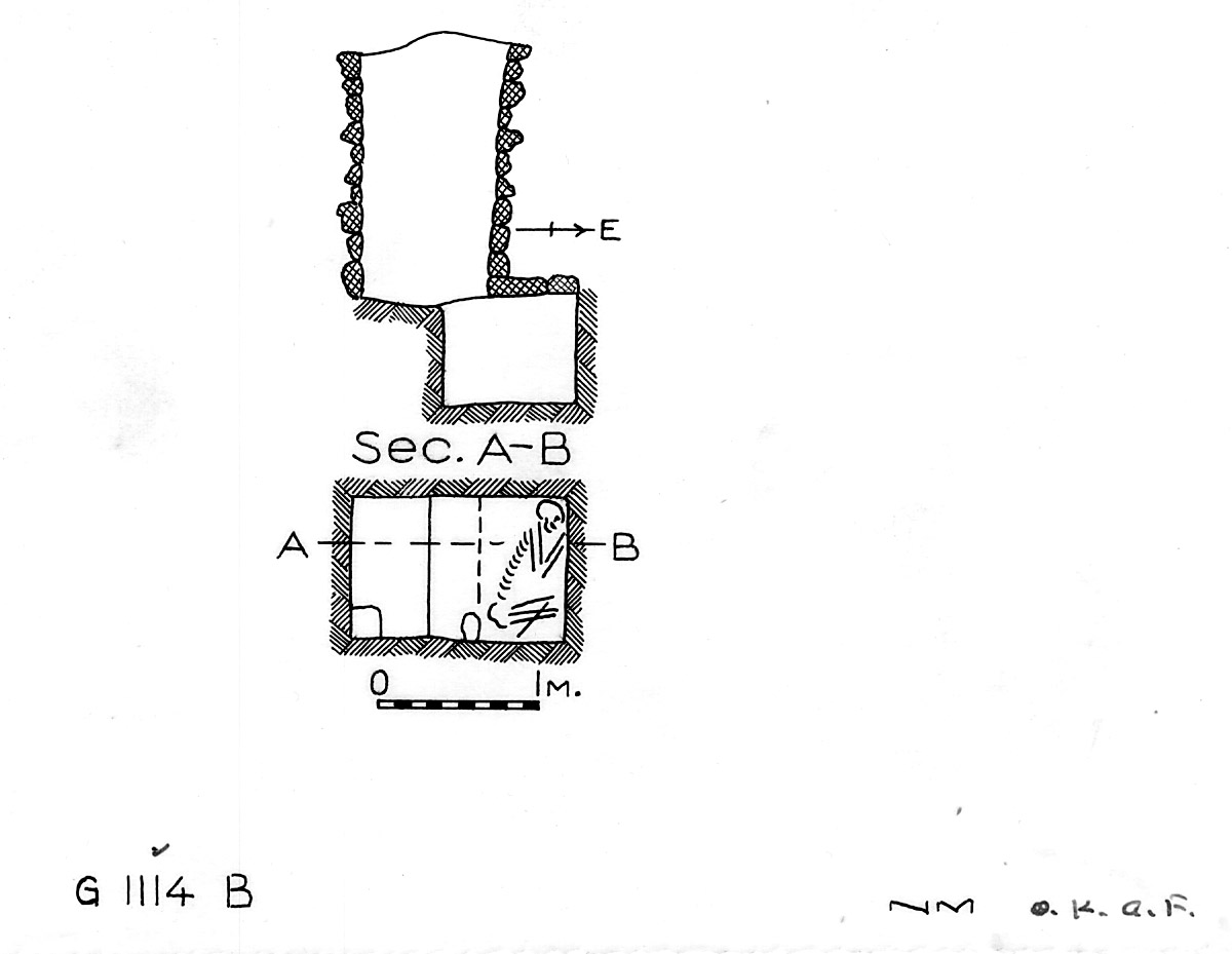 Maps and plans: G 1114, Shaft B