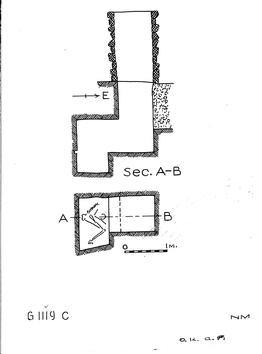 Maps and plans: G 1119, Shaft C