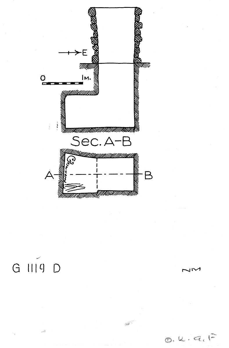 Maps and plans: G 1119, Shaft D