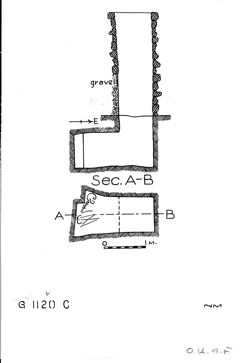 Maps and plans: G 1120, Shaft C