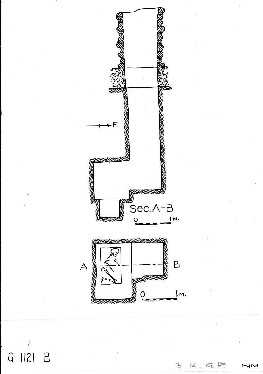 Maps and plans: G 1121, Shaft B