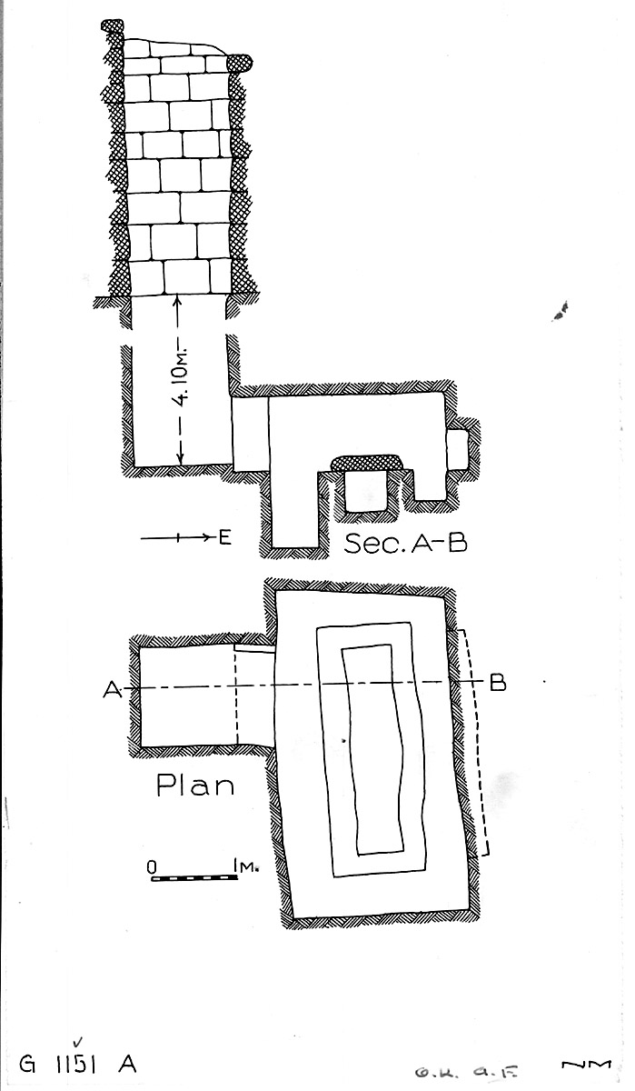 Maps and plans: G 1151, Shaft A