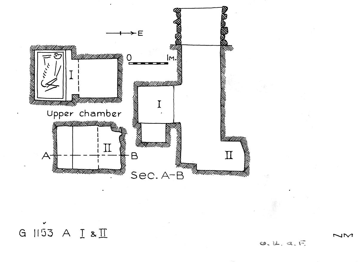 Maps and plans: G 1153, Shaft A (I & II)