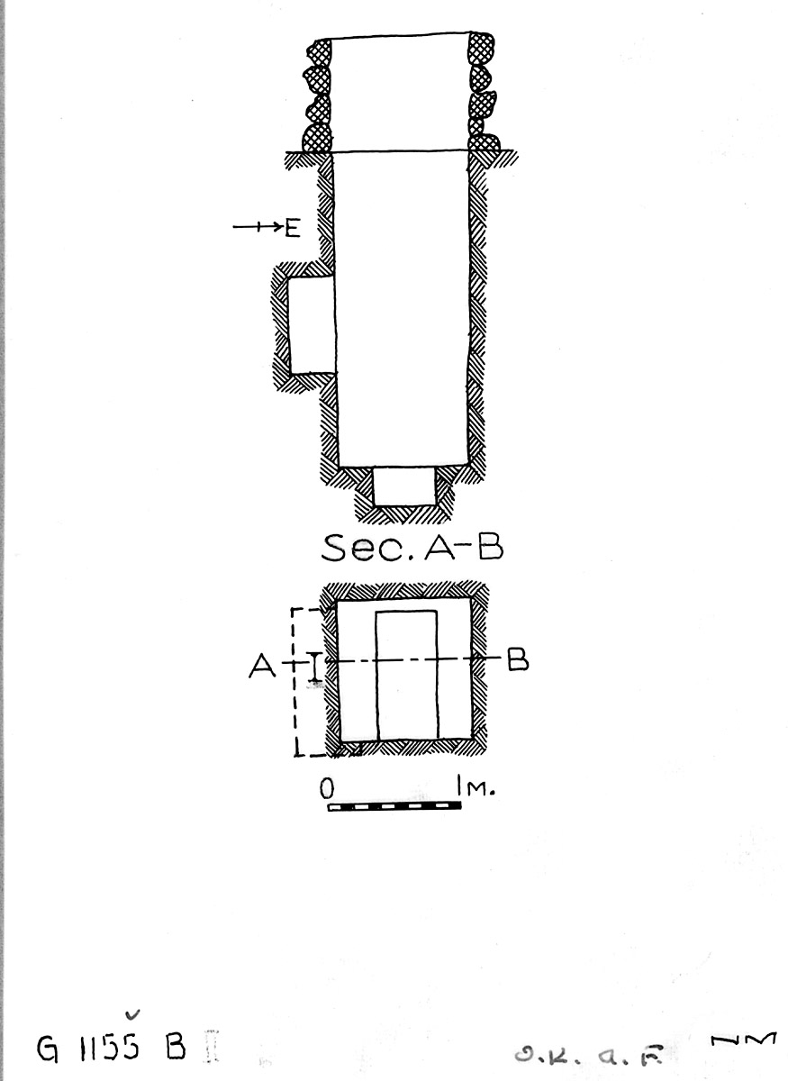 Maps and plans: G 1155, Shaft B