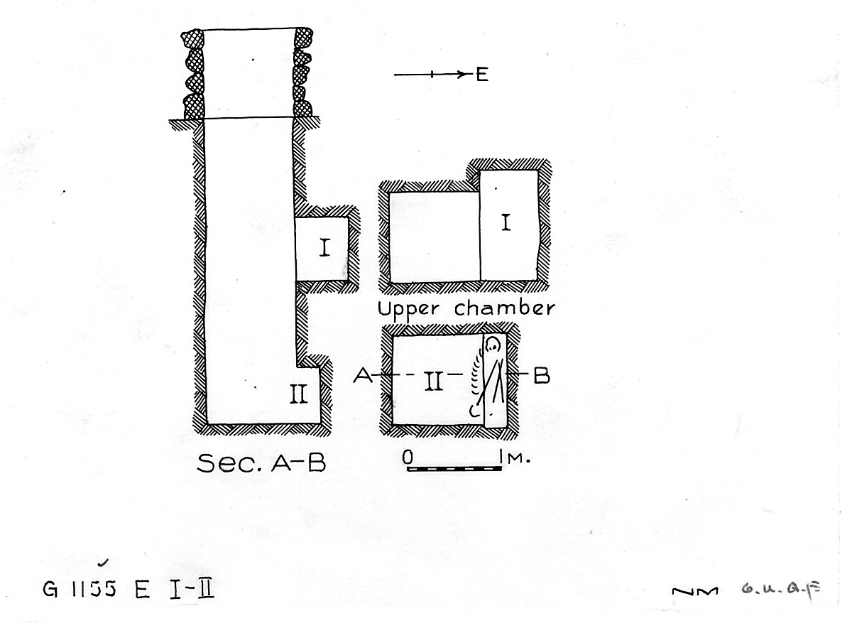 Maps and plans: G 1155, Shaft E