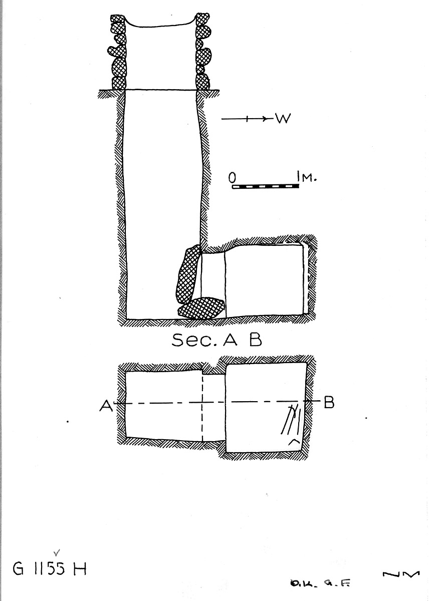 Maps and plans: G 1155, Shaft H