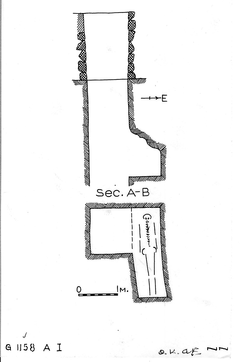 Maps and plans: G 1158, Shaft A (I)