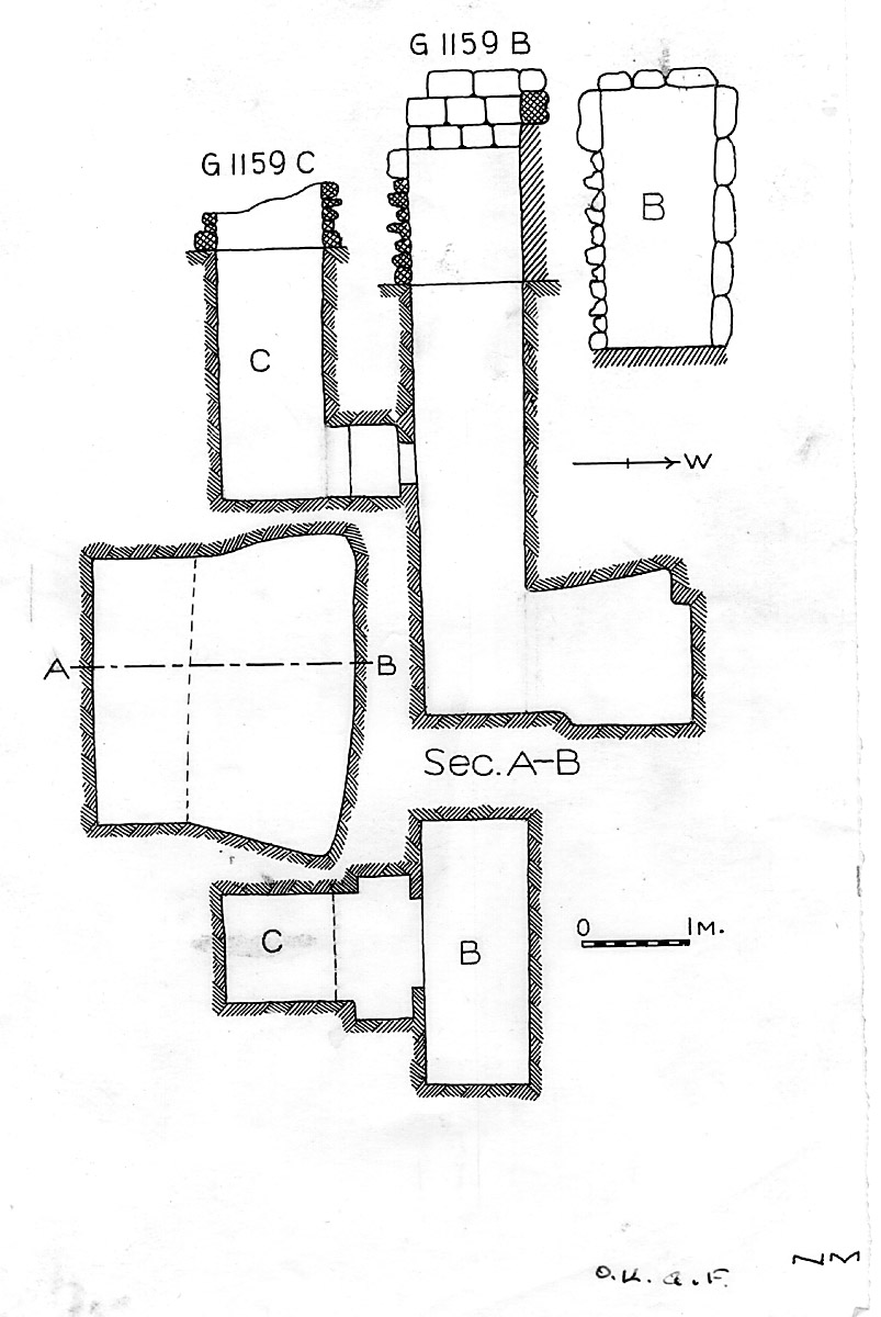 Maps and plans: G 1159, Shaft B and C