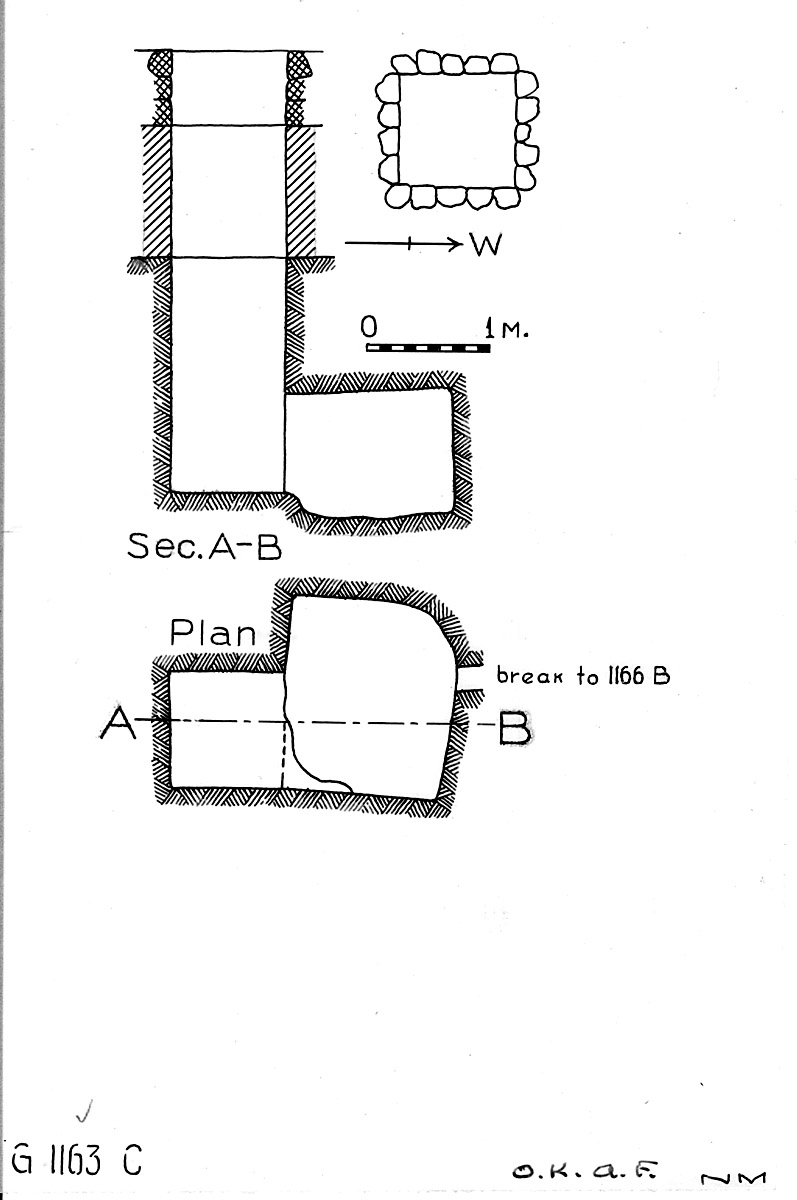 Maps and plans: G 1163+1166: G 1163, Shaft C