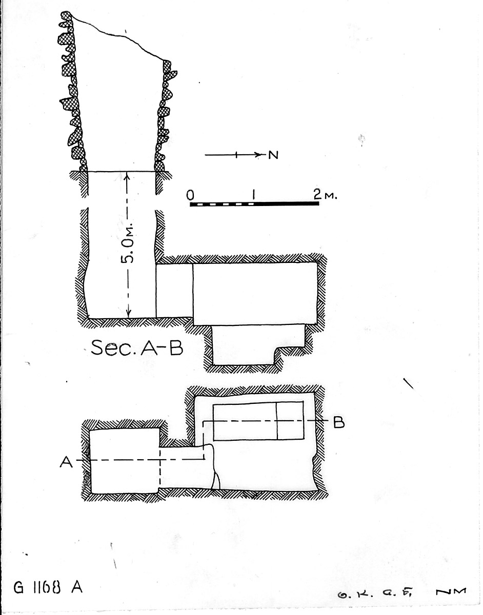 Maps and plans: G 1168, Shaft A