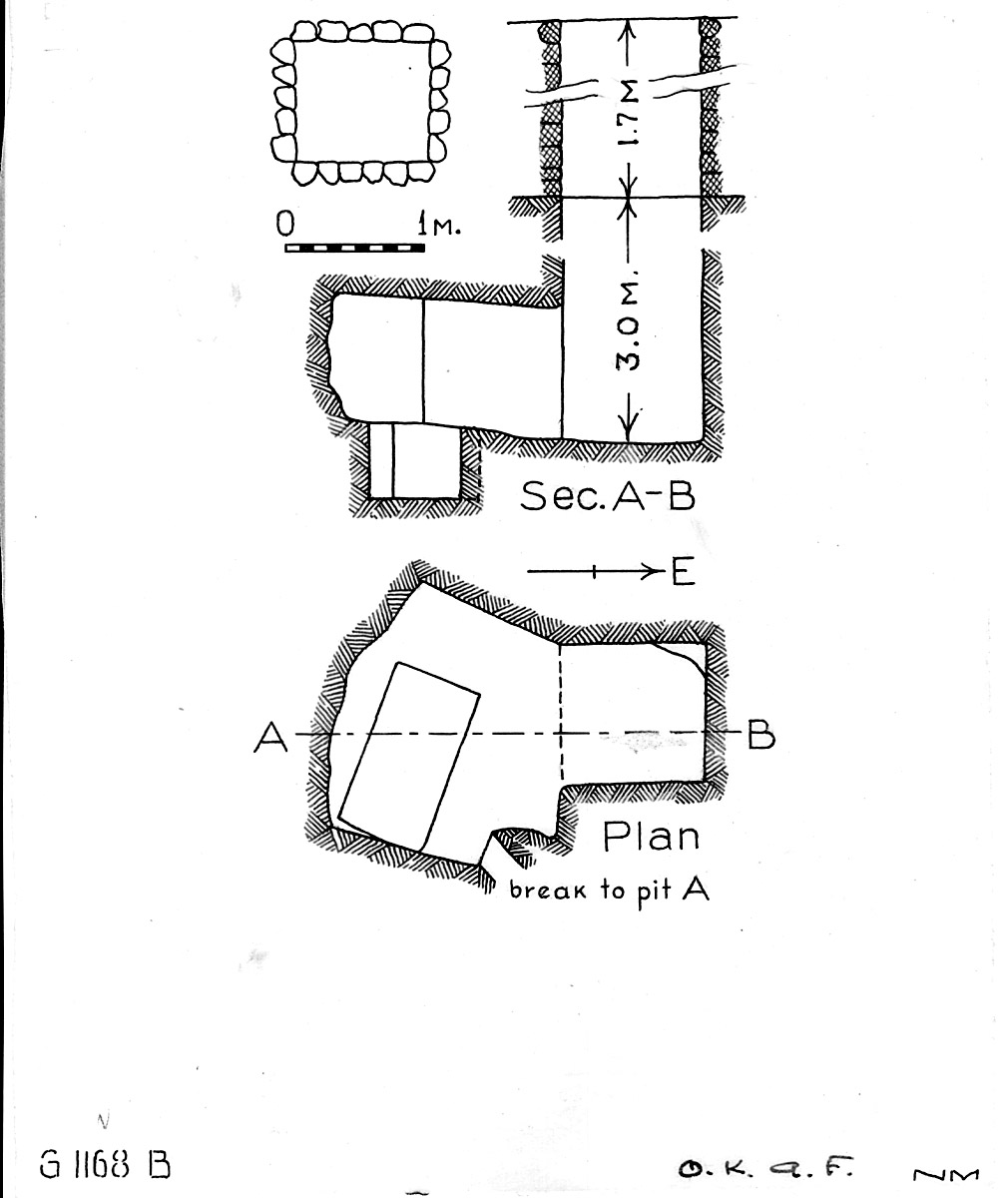 Maps and plans: G 1168, Shaft B