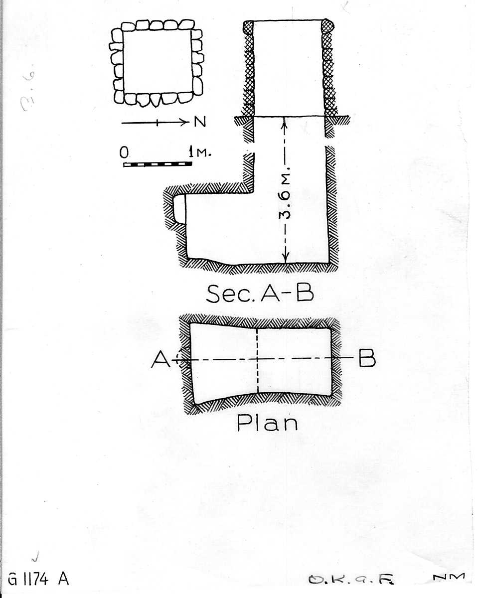 Maps and plans: G 1173 = G 1174, Shaft A