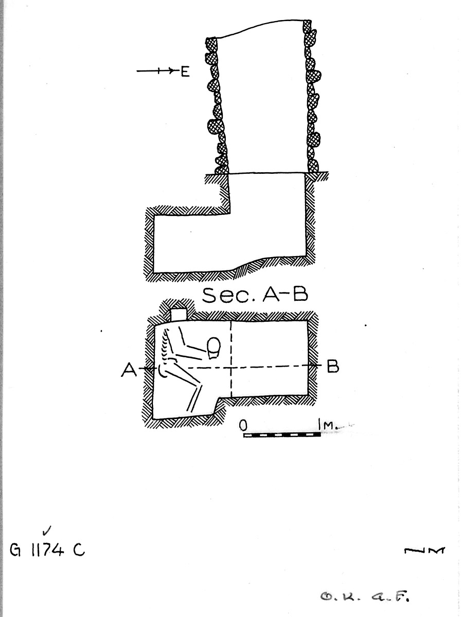 Maps and plans: G 1174, Shaft C