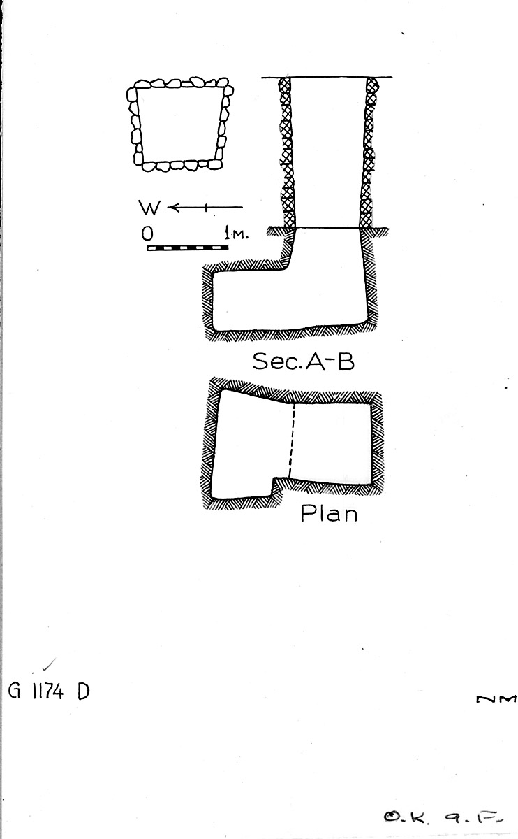 Maps and plans: G 1174, Shaft D