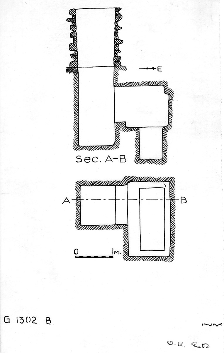 Maps and plans: G 1302, Shaft B