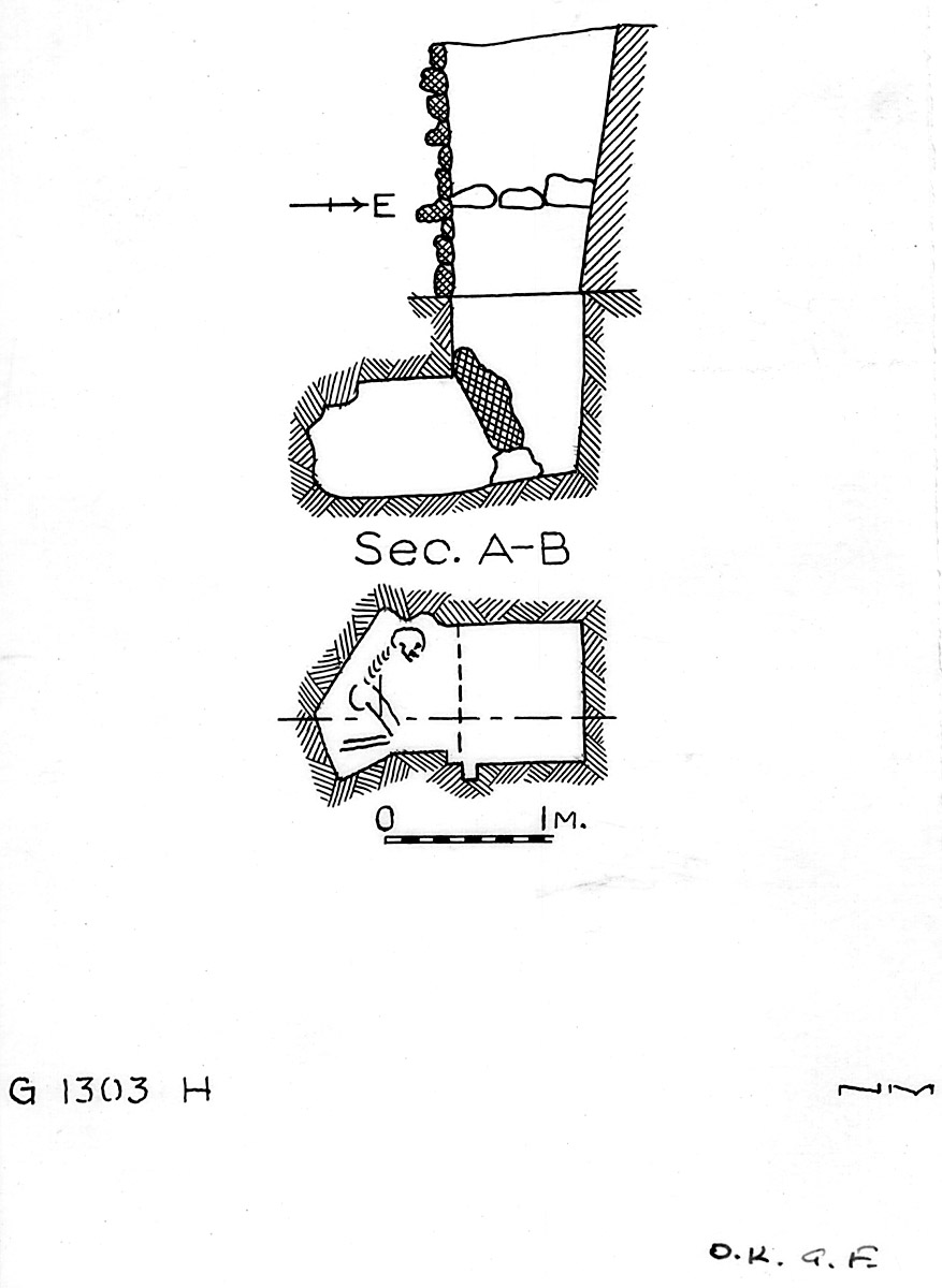 Maps and plans: G 1303, Shaft H
