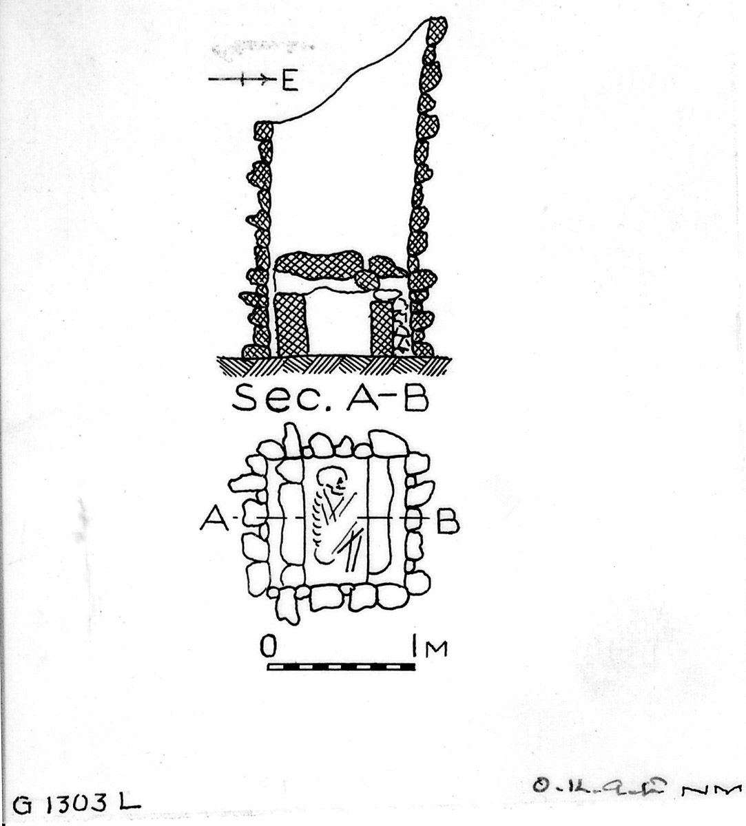 Maps and plans: G 1303, Shaft L