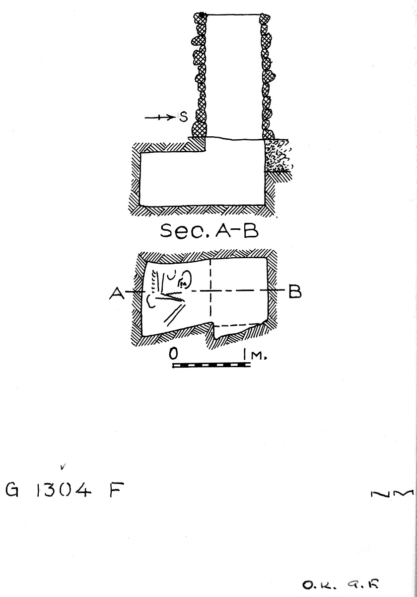 Maps and plans: G 1304, Shaft F