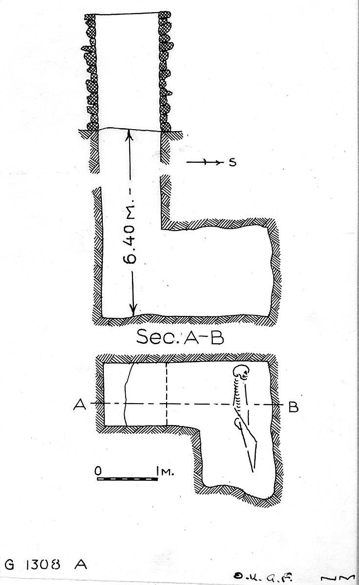 Maps and plans: G 1308, Shaft A