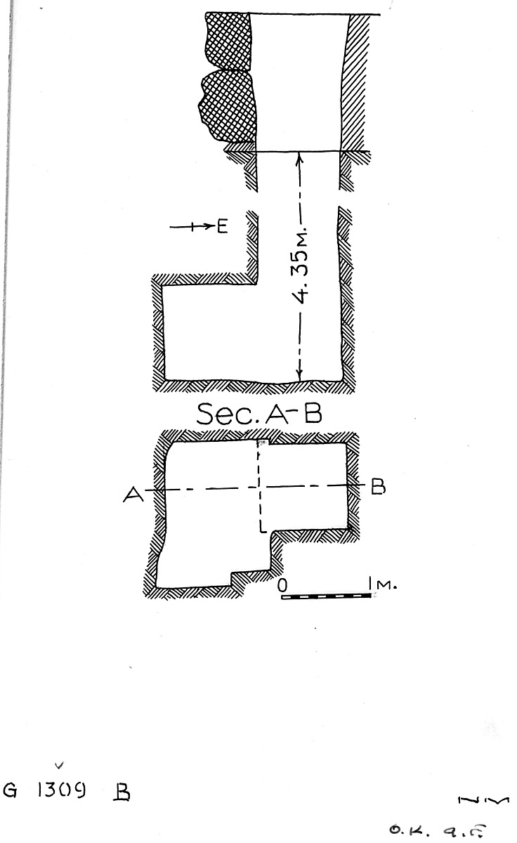 Maps and plans: G 1309, Shaft B