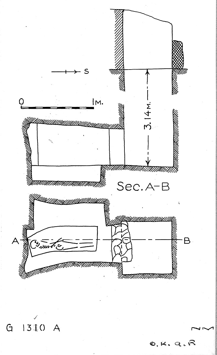 Maps and plans: G 1310, Shaft A