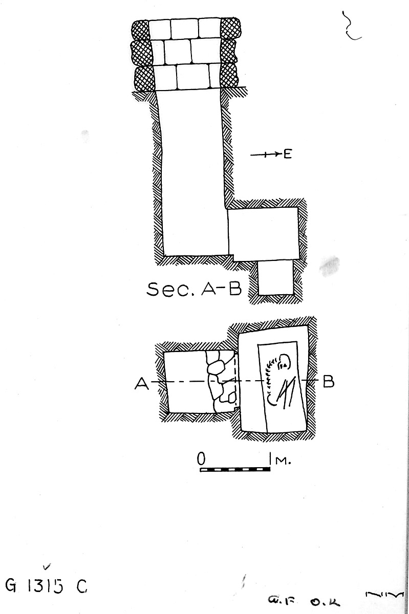 Maps and plans: G 1315, Shaft C