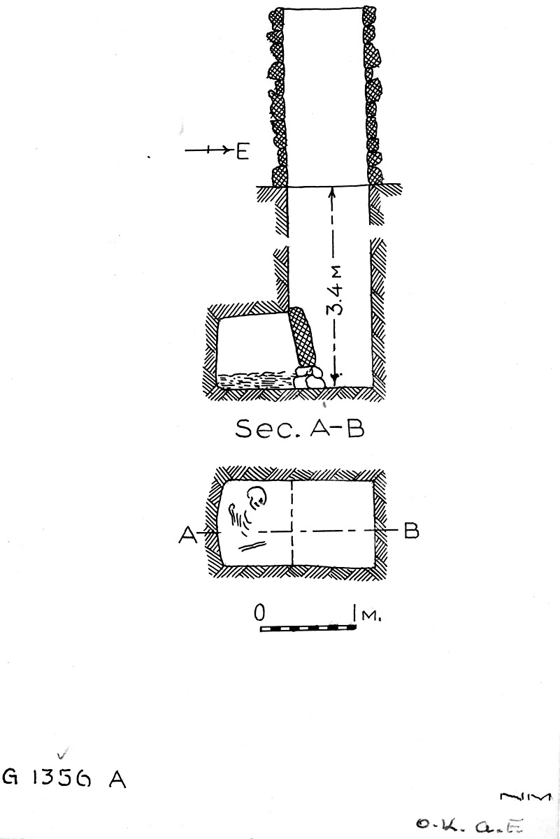 Maps and plans: G 1356, Shaft A