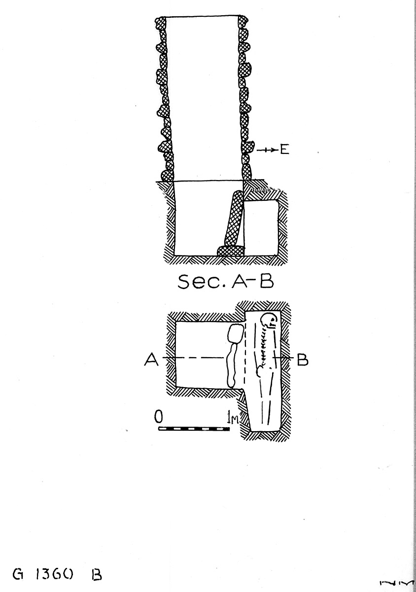 Maps and plans: G 1360, Shaft B