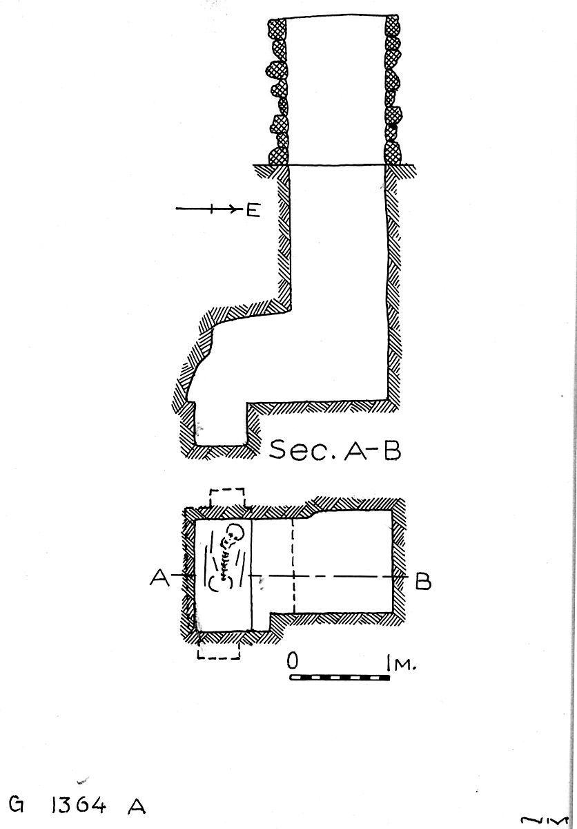Maps and plans: G 1364, Shaft A