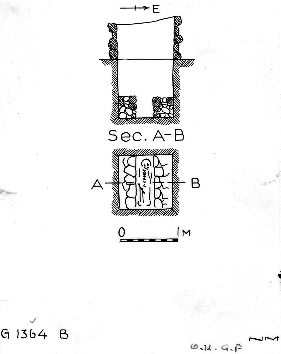 Maps and plans: G 1364, Shaft B