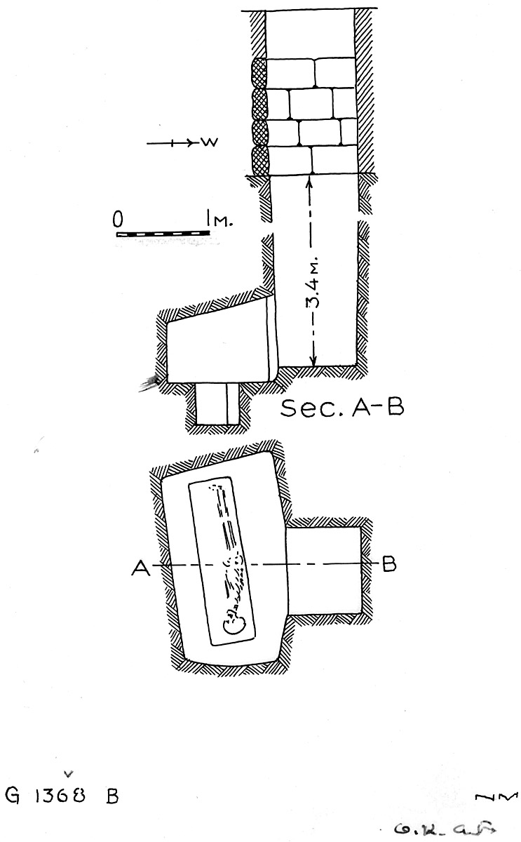 Maps and plans: G 1368, Shaft B