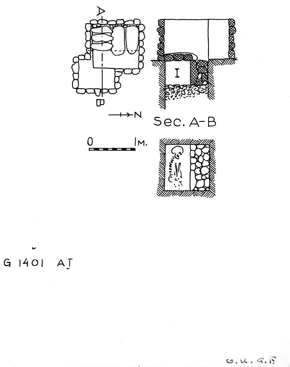 Maps and plans: G 1401, Shaft A (I)
