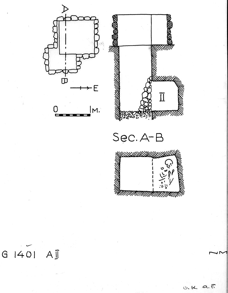 Maps and plans: G 1401, Shaft A (II)